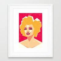marilyn Framed Art Prints featuring Marilyn by Yetiland