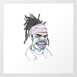 Rapper-a-day project | Day 6: Busta Rhymes Art Print