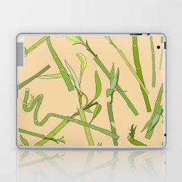 Scattered Bamboos on Beige Laptop & iPad Skin