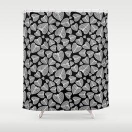 Black White Pattern Shower Curtain