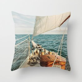 Open Ocean Sailing Throw Pillow