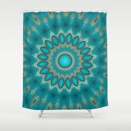 Turquoise Jewels Shower Curtain