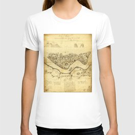 Original West Point Survey Map October 24th-27th 1783 T-shirt