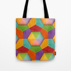 Geometric Rainbows Tote Bag