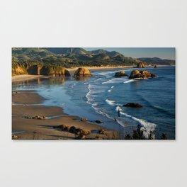 Landscape Ecola State Park Beach Canvas Print