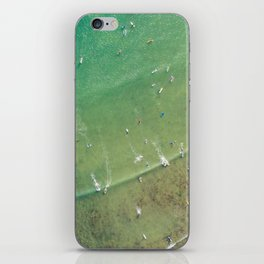 Drone Shot of Surfers from above iPhone Skin