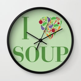 I heart Soup Wall Clock