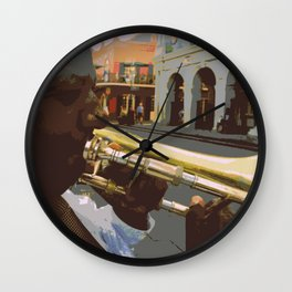 Jackson Square - Summertime Wall Clock