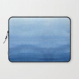 Blue Watercolor Ombré Laptop Sleeve