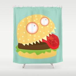 Monster Burger Shower Curtain