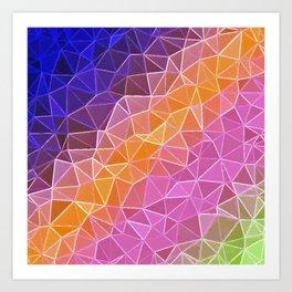 crystalized rainbow Art Print