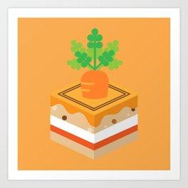 Orange Carrot Cake Art Print