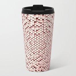 Pattern of red brushed metal cylinders Travel Mug