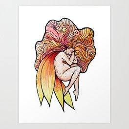 Pregnant Fairy Art Print
