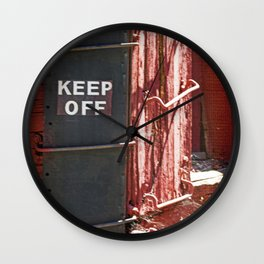 Train Car Ladder Wall Clock