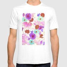 Oriental blossom Mens Fitted Tee MEDIUM White