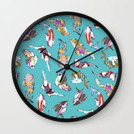 Beach-ready Sharks Wall Clock