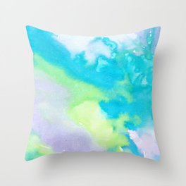 watercolor monsters Throw Pillow