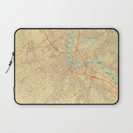 Basel Map Retro Laptop Sleeve