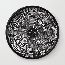 MUSICAL TYPE WHEEL Wall Clock