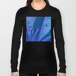 Frozen Fractal Forest Long Sleeve T-shirt