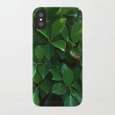 Green tropical foliage Slim Case iPhone X