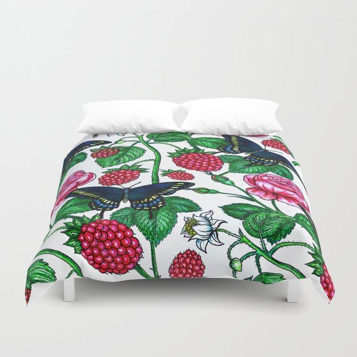 Raspberries pattern Duvet Cover