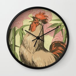 BASAN (fire-breathing rooster) Wall Clock