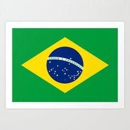 Brazil Flag Graphic Design Art Print