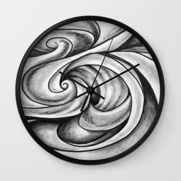 Swirl (Gray) Wall Clock