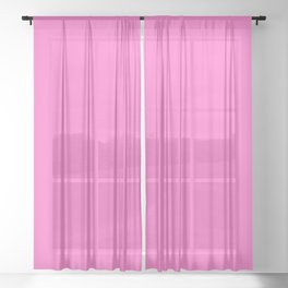 Neon Pink For Cute Girls Sheer Curtain