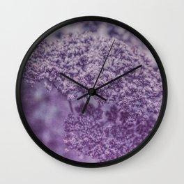 Sedum in Winter Wall Clock