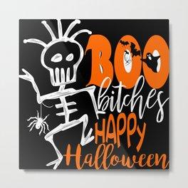 Funny Happy Halloween Metal Print