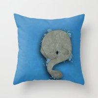 manatee Throw Pillows featuring Manatee by Acrosanti