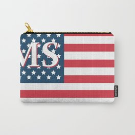 Mississippi American Flag Carry-All Pouch