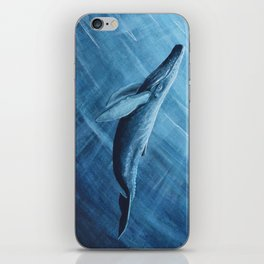 Watercolor Whale iPhone Skin