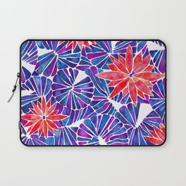 Water Lilies – Indigo & Red Palette Laptop Sleeve