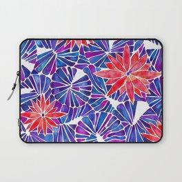 Water Lilies – Indigo & Red Palette Laptop Sleeve