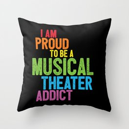 Musical Theater Pride Throw Pillow