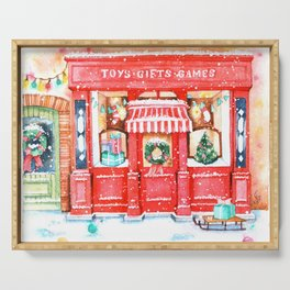 Toys Gifts Games Winter Serving Tray
