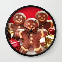 Gingerbread men Wall Clock