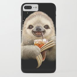 SLOTH & SOFT DRINK iPhone Case