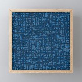 Fibre Mesh Pattern (Blue) Framed Mini Art Print