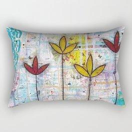 Little Lotus Flowers Rectangular Pillow