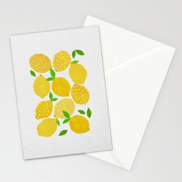 Lemon Crowd Stationery Cards