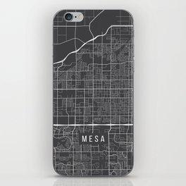 Mesa Map, Arizona USA - Charcoal Portrait iPhone Skin