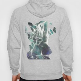 Sugar Coated Sour: Negative (nude curvy pin up with butterflies) Hoody
