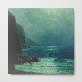 Night Sailing, California Pacific Coast by Granville Redmond Metal Print