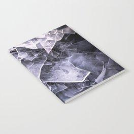 Cracked Ice Tiles In Lake Shore #decor #buyart #society6 Notebook