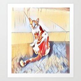 Salamis Cat Art Print